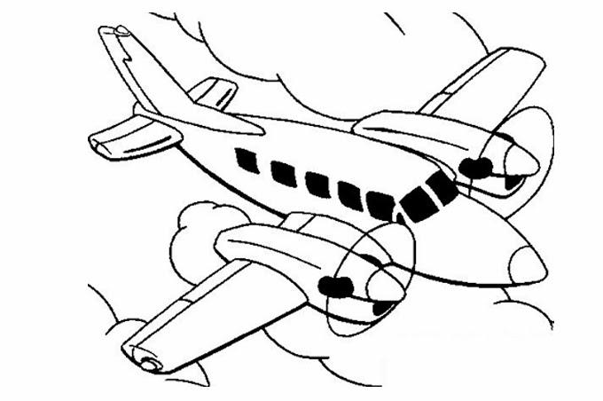 بالصور رسومات للتلوين الطائرات , رسومات جديدة للطائرات لهواه التلوين 244 2