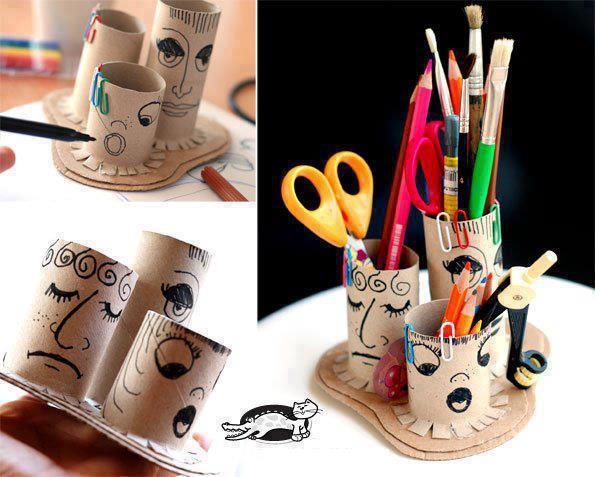 صور افكار فنية بسيطة , اشغال يدوية بالورق