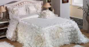 صوره صور افخم اغطية سرير للعروسة , احدث الاغطية للزواج 2018