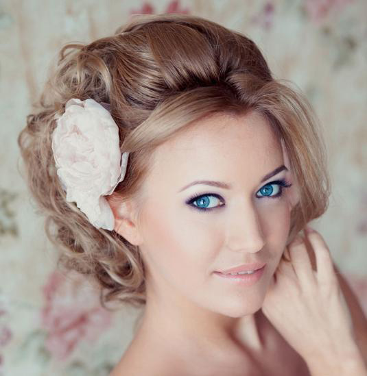 بالصور تسريحات عرايس بالورد , تزينى بالورد يوم زفافك 784 5