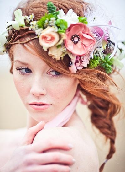 بالصور تسريحات عرايس بالورد , تزينى بالورد يوم زفافك 784 8