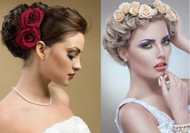صور تسريحات عرايس بالورد , تزينى بالورد يوم زفافك