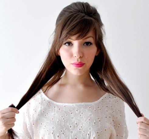 بالصور تسريحات هاديه وناعمه للشعر الطويل , احلي صور لموديلات الشعر الطويل 806 5