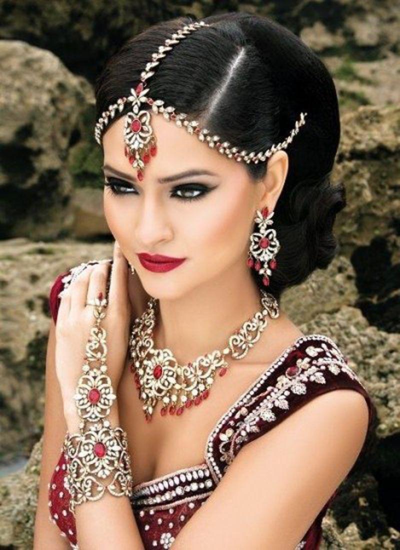 بالصور تسريحات عرايس هنديه , اجمل تسريحات الهنديات ليلة العرس 820 5