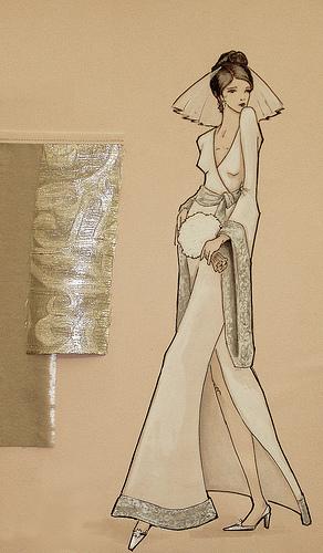 صور تصميم الازياء بالرسم رسم فساتين روعه , تصاميم فساتين جديدة و مختلفة