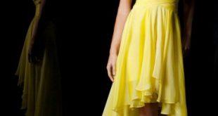 صوره فساتين باللون الاصفر , فساتين مبهرة لونها اصفر