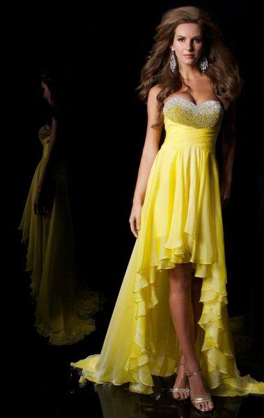 بالصور فساتين باللون الاصفر , فساتين مبهرة لونها اصفر 1157