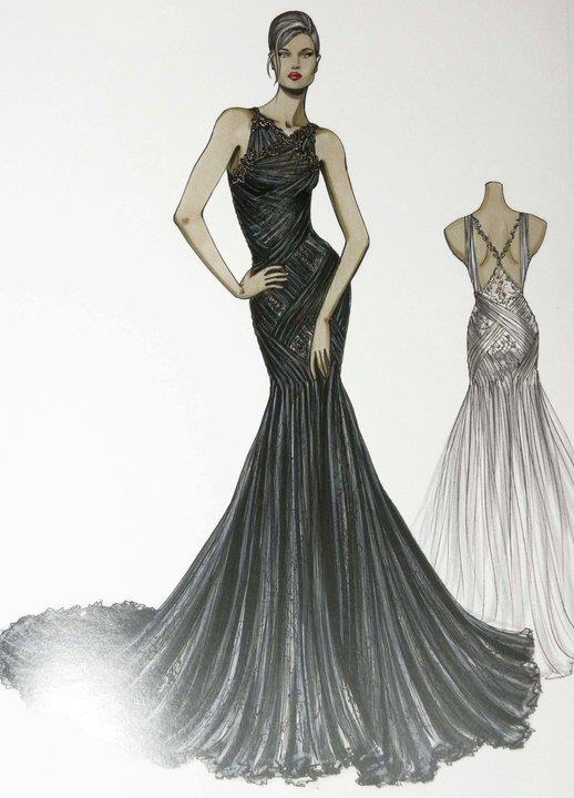 صورة رسومات تصميم فساتين , اجدد التصاميم لفساتين البنات
