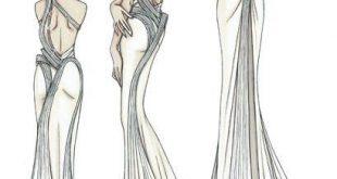 صور رسومات تصميم فساتين , اجدد التصاميم لفساتين البنات