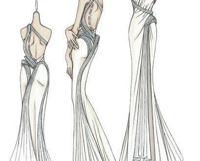 بالصور رسومات تصميم فساتين , اجدد التصاميم لفساتين البنات 1158 10 409x330