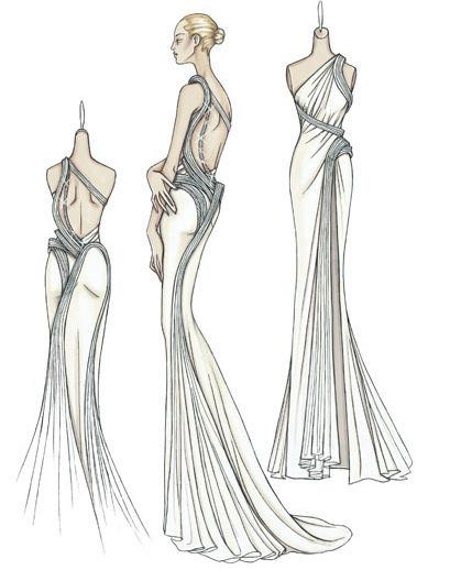 صوره رسومات تصميم فساتين , اجدد التصاميم لفساتين البنات
