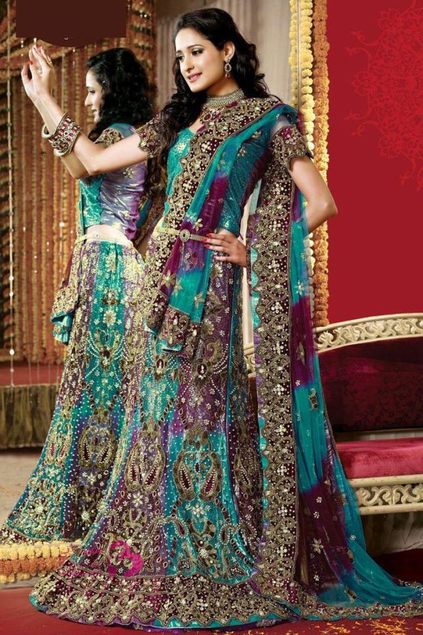بالصور ازياء هندية للاعراس , اجمل اطلالات العرائس فى الهند 1170