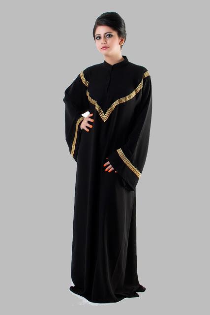 بالصور عبايات سوداء كاجوال , عبايات بلون اسود عملية جدا و على الموضة 1288 10