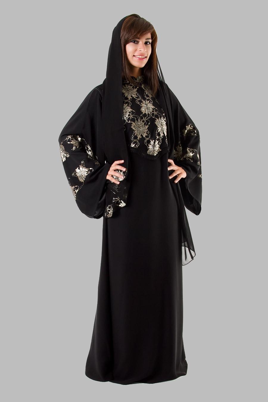 بالصور عبايات سوداء كاجوال , عبايات بلون اسود عملية جدا و على الموضة 1288 2