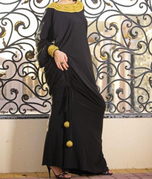 بالصور عبايات سوداء كاجوال , عبايات بلون اسود عملية جدا و على الموضة 1288 4