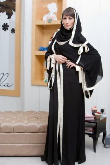 بالصور عبايات سوداء كاجوال , عبايات بلون اسود عملية جدا و على الموضة 1288 6
