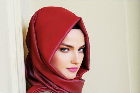 صورة احدث موديلات لفات الطرح 2019 , لفات حجاب جديدة و مميزة