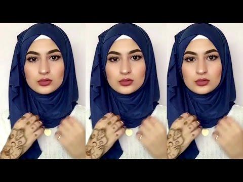 صورة لفات طرح 2020 بالصور للمدرسة , لفات حجاب بسيطة للمدرسة