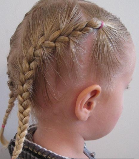 صورة تسريحات شعر بسيطة بالخطوات والصور للاطفال , دلعى بنوتك بالضفاير و الفيونكات
