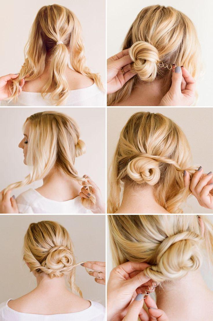 صورة تسريحات شعر سهلة و بسيطة , يلا بنات حنعمل نيولوك لشعرنا