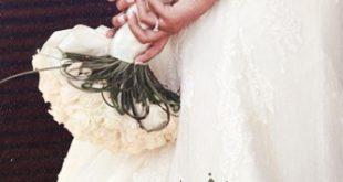 صور فستان عروس مكتوب عليه , امنيات و كلمات راقية بمناسبة الزفاف