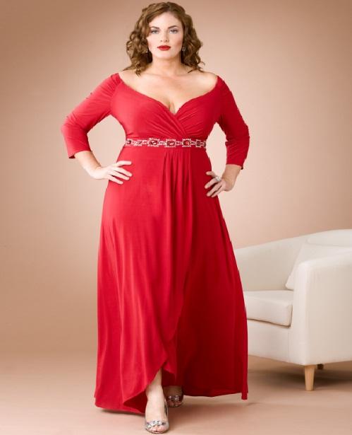 صوره ستايل ملابس المراة السمينة لتبدو انحف , موديلات للنساء الممتلئة