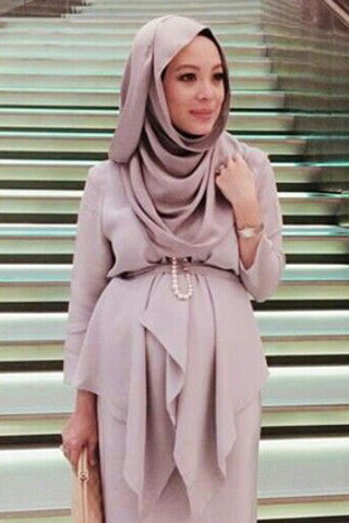 بالصور ملابس حوامل محجبات في مصر , ازياء محتشمة للحامل 954 2