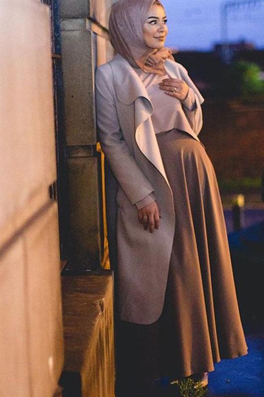 بالصور ملابس حوامل محجبات في مصر , ازياء محتشمة للحامل 954 8