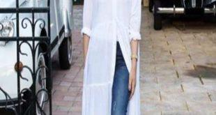ملابس تناسب النحيفات الطويلات محجبات , موديلات لطوال القامة