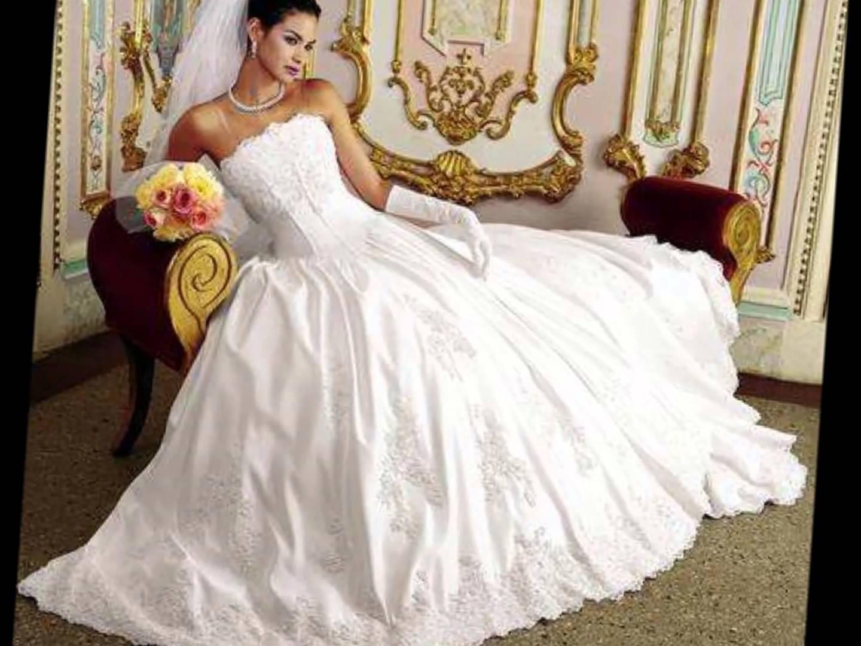 صوره صور فساتين عروس , انتى ملكة العرائس المتوجة