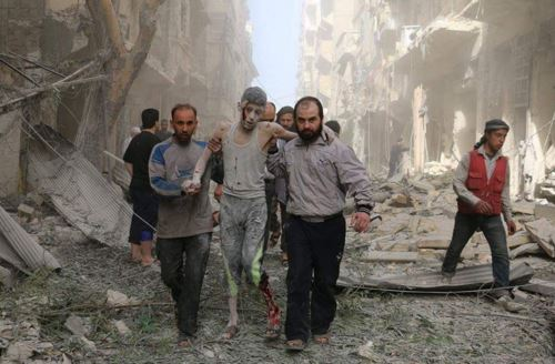 بالصور صور حلب تحترق , صور تعبيرية تضامنا مع ماساة سوريا 2657 8