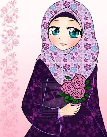 بالصور صور انمي محجبات , بوستات انمي اسلامية