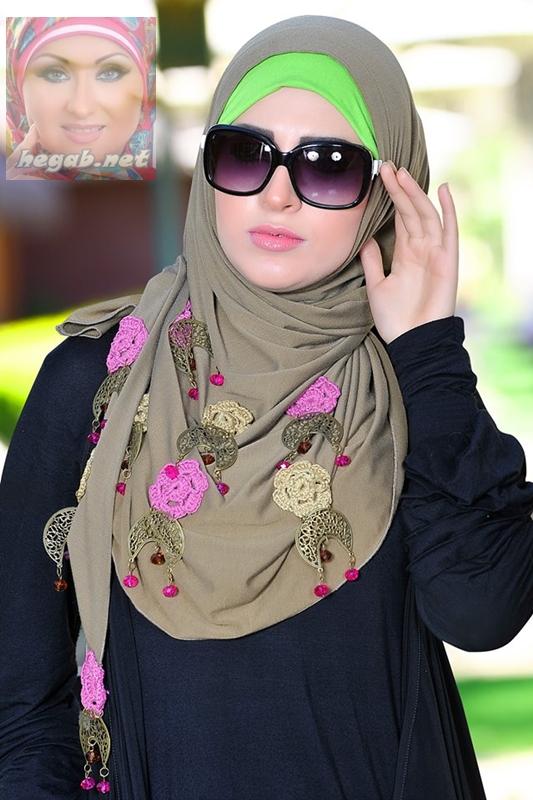بالصور صور لفات حجاب , تالقي برابطة حجابك الجديدة حتي تكوني متميزة 2313 9