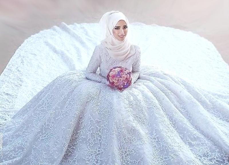 صور صور عرايس محجبات , كوني ملكة متالقة يوم فرحك بحجابك