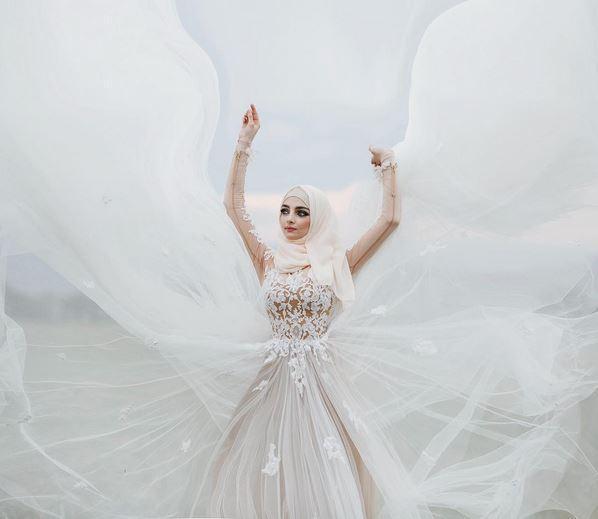 بالصور صور عرايس محجبات , كوني ملكة متالقة يوم فرحك بحجابك 2428 2