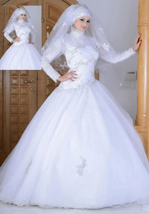 بالصور صور عرايس محجبات , كوني ملكة متالقة يوم فرحك بحجابك 2428 3