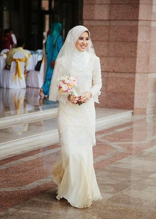 بالصور صور عرايس محجبات , كوني ملكة متالقة يوم فرحك بحجابك 2428 4