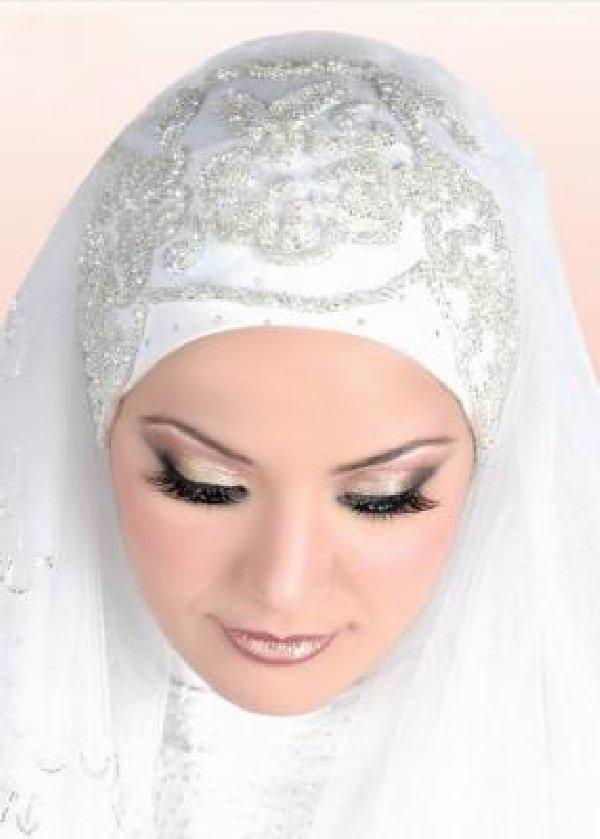بالصور صور عرايس محجبات , كوني ملكة متالقة يوم فرحك بحجابك 2428 5