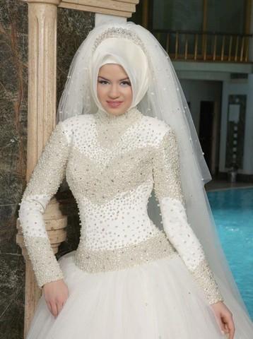 بالصور صور عرايس محجبات , كوني ملكة متالقة يوم فرحك بحجابك 2428 6