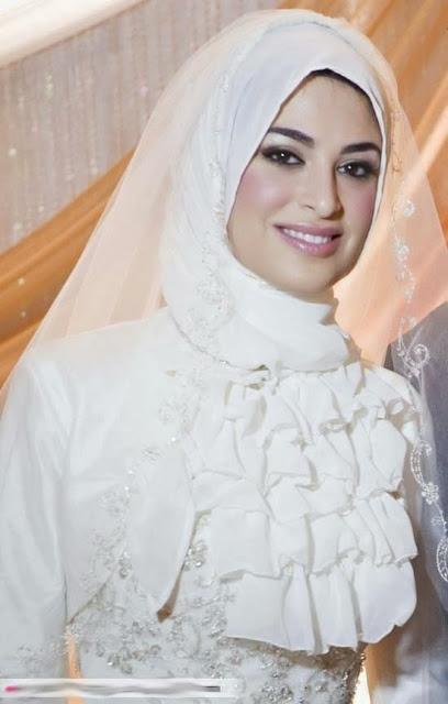 بالصور صور عرايس محجبات , كوني ملكة متالقة يوم فرحك بحجابك 2428 7