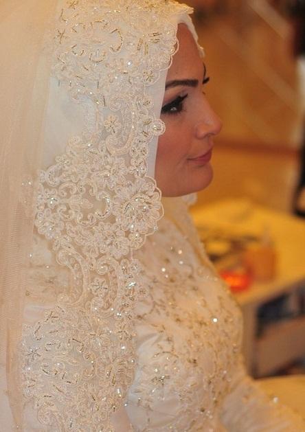 بالصور صور عرايس محجبات , كوني ملكة متالقة يوم فرحك بحجابك 2428 8
