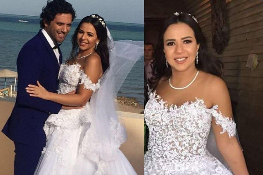صوره صور فرح ايمي سمير غانم , افرحي يا عروسة بعريسك وزغروطو يا حبايب