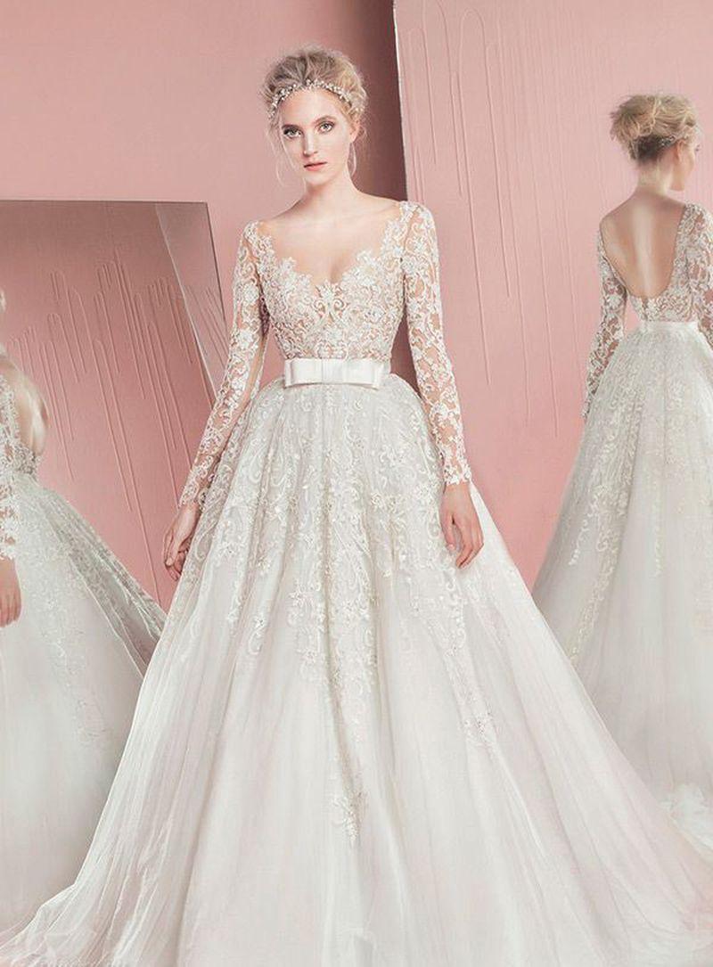 بالصور صور فساتين عرايس , افرحي يا عروسة و هيصي لجمال فستانك 2344 5
