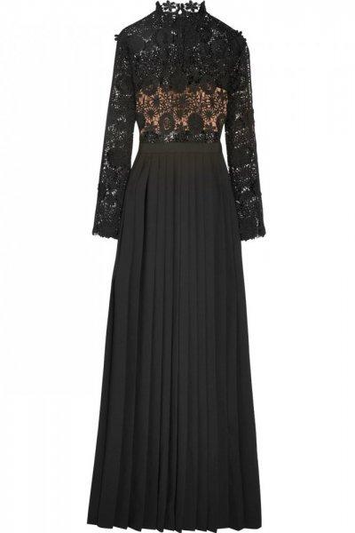 صورة فستان كم طويل , اشيك موديلات فساتين كم طويل