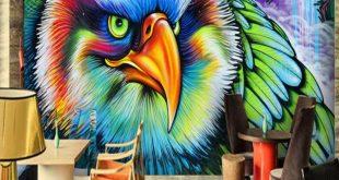 صورة فن الرسم على الجدران , انواع الرسم المختلفة