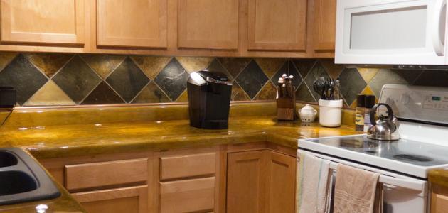صورة كيفية تنظيف خشب المطبخ من الدهون , تخلصي من دهون المطبخ