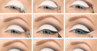 صورة صور تعليم مكياج عيون , احدث مكياج العيون وتعليمها