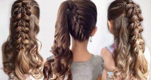 تسريحات للشعر الطويل للبنات المراهقات , سرحي شعرك وابقي مميزه